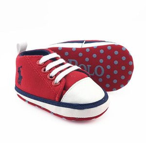 Casual Baby Girls Boys Sports Shoes Lace-up Canvas Newborn First Walker Shoes Soft Sole Anti-slip Infant High Moccasins Sneakers