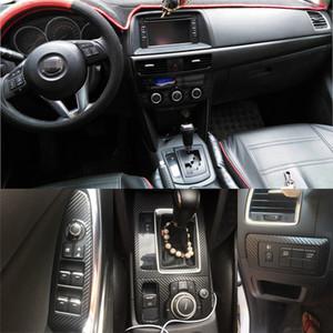 ل Mazda cx-5 2013-2016 الباب لوحة التحكم المركزية الداخلية مقبض 3D / 5D ملصقات الألياف الكربونية
