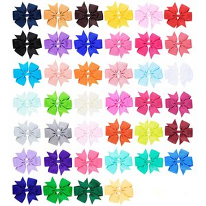 Baby Girls Grosgrain Ribbon Bows With Alligator Clips Bow Hairpins 3.3 inch Childrens Hair Accessories Kids Boutique Bow Barrette Clips