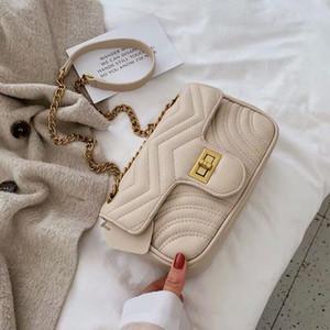 Sweet style chain bag 2019 fashion designer 5-color envelope single-shoulder small square bag leather