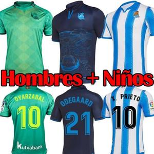 19 20 Real Sociedad camiseta de fútbol 2019 Inicio OYARZABA fútbol Shir Thome X.PRIETO CARLOS JUANMI conmemorativa uniforme Editio Fútbol