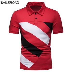 SAILEROAD Camiseta Polo Hombre 2019 Novos Homens Camisa Polo Streetwear Moda Verão Encabeça Camisas Dos Homens Com Manga Curta Blusas