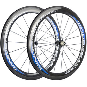 700C a pair carbon wheelset 60mm clincher road wheels 23mm width bicycle fiber wheels with black R13 Hub
