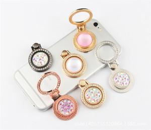 Metal Electroplated Diamond Bracket Holder Finger Ring For iPhone Samsung Phone