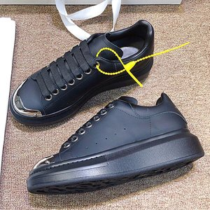 Luxury fashion designer men's and women's shoes, sub-sneakers leather casual shoes, thick-soled sports shoes with original box QWi