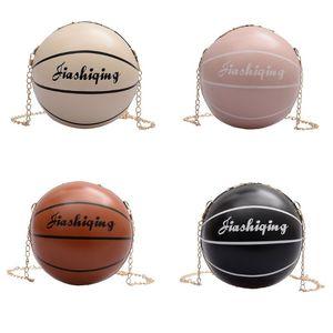 Mujeres Moda para mujer de baloncesto en forma de Crossbody de la PU de cuero bolso monedero del totalizador del mensajero de la taleguilla