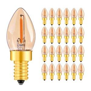 C7 0.5 W or E14 Led Filament candélabres ampoules Vintage Night Light Ampoule Ultra Chaud 2200 K 5 watt équivalent Dimmable Led Lampe
