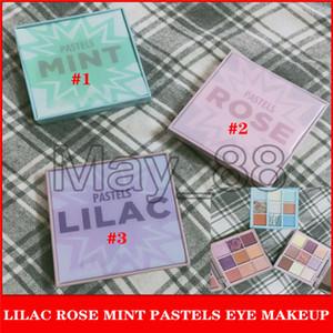 Drop Shipping ROSE LILA MINT Pastelle 9 Farben Lidschatten-Schimmer-Matt Glitter Metallic pigmentierte bewegliche Augen bilden Paletten-kosmetischen