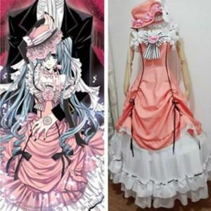 ! 새로운 흑 집사 애니메이션 의류 왜냐하면 시엘 Phantomhive 코스프레 의상 드레스 : D