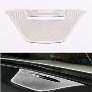 Stainless Audio Speaker Dashboard Loudspeaker Cover Trim Sticker For Mercedes Benz A GLA CLA Class W176 X156 C117 Car Accessory