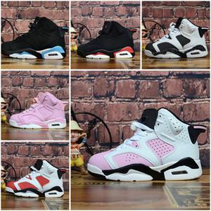 Nike Air Jordan 6 Дети 4 6 баскетбольная обувь оптом Новый 1 space jam J4 J6 6s кроссовки Детские спортивные кроссовки девочка мальчик кроссовки J6 обувь 28-35