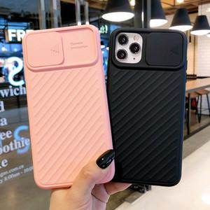 Slayt Kamera Koruyucu Telefon Kılıfı Için iphone 12 Pro Max 11 XR XS 6 S 8 7 Artı Yumuşak TPU Silikon Geri Tam Kapak