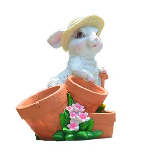 Easter Decorations for Home New Year Cute Rabbit Figurines Tabletop Ornaments Fairy Garden