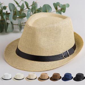 بنما سترو أحد قبعة أزياء الصيف عارضة العصرية شاطئ مظلة قبعة من القش رعاة البقر فيدورا قبعة في الهواء الطلق السفر سترو أحد قبعة snapback القبعات D1057