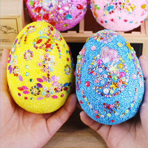 Diy Easter Eggs Children's Handmade Materials DIY making toys Creative Egg Painted Snowflake Mud Easter Day Decoration Craft Tools