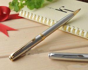 Бесплатная доставка Parker шариковой ручки Металл Золото ручка верхнего качество Школа офис Поставщики Refill 0.7mm Подпись Шариковая ручка Канцелярские подарки