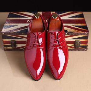 scarpe di vernice scarpe per gli uomini di Oxford uomini scarpe moda aziendale Herren Schuhe italienisch zapatos de vestir hombre cuoio 2019 medicazione