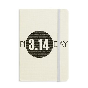 3.14 Pi Day Anniversary Notebook Fabric Hard Cover Classic Journal Diary A5
