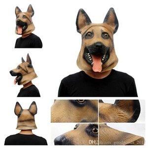 Dog Head Latex Mask Full Face Adult Mask Breathable Halloween Masquerade Fancy Dress Party Cosplay Costume Lovely Animal Party Mask MK302