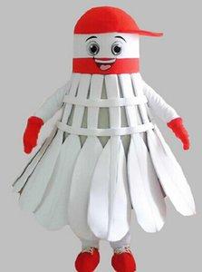 Custom Factory Badminton del costume della mascotte di formato adulto badminton del personaggio dei cartoni Mascotte Costumi Fancy Dress