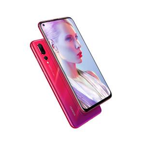 Original Huawei Nova 4 4G LTE Cell Phone 6GB RAM 128GB ROM Kirin 970 Octa Core Android 6.4 inch Full Screen 25MP Fingerprint ID Mobile Phone
