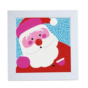 Special Shaped DIY Full Drill Diamond Painting Father Christmas Embroidery Set Handmade Cross Stitch Picture Craft with Frame