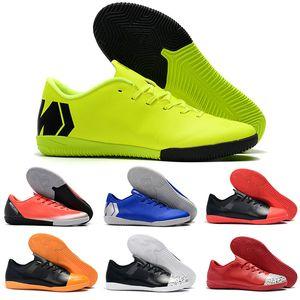 césped de interior al aire libre zapatos de fútbol VAPORX 12CLUB TF IC CR7 neymar Ronaldo botas de fútbol para hombre bajo Mercurial Superfly naranja