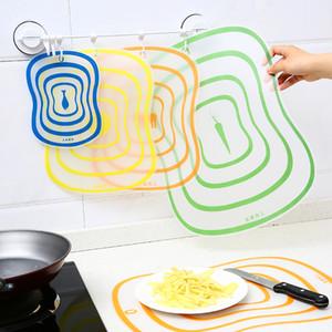 Bloc à découper planche à pain planche à pain fruits coupés fruits en plastique flexible dépoli panneau de cuisine transparent portable populaire créatif 0 35rh k1