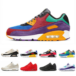 Nike Air max 90 shoes airmax 90 Triple noir 90 Hommes Femmes Chaussures De Course Classique Jaune rouge blé 90 s Sports Trainer Air Cushion Surface Respirant Sneakers 36-45