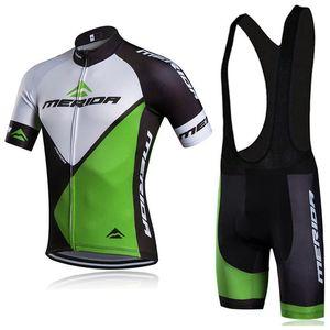 2019 뜨거운 새로운 MERIDA 사이클링 저지 세트 남자 여름 짧은 소매 MTB 자전거 의류 Ropa Ciclismo 통기성 빠른 건조 자전거 타기 Y011501