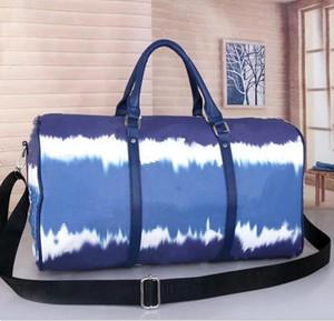 2020 mujeres de los hombres bolsas nueva de los hombres de moda las mujeres bolsa de lona bolsa de viaje, bolsos de equipaje de cuero grande del bolso de deporte 50cm capacidad