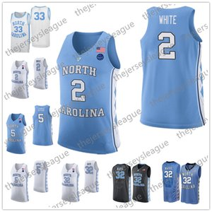 North Carolina Tar Heels # 15 Vince Carter 0 Sétimo madeiras 23 Michael 40 Harrison Barnes Preto Branco Azul NCAA College Basketball Jerseys