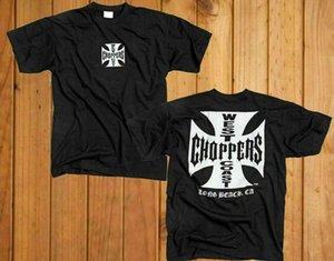 T shirt Vtg West Coast Choppers croce Dimensioni nero pieno