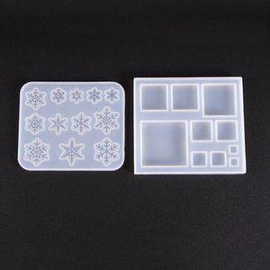 Transparent Silicone Mould Dried Flower Resin Decorative Craft DIY Square snowflake Mold epoxy resin molds for jewelry