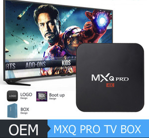 Venda quente 4K S905W MXQ Pro Android Caixa de TV Android 7.1 (1GB 8GB) Mão da UE
