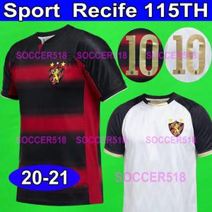 2020 2021 Sport Recife 115ª casa de cumpleaños del fútbol rojo de los jerseys brasileño Sport Club do Recife 115 años camisetas de aniversario blanca