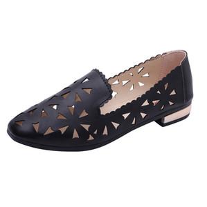 Sagace Wohnungen für Frauen beiläufige bequeme Blumen Wohnungen Frauen Schuhe Solide Leder Damen Schuhe Frauen flache Freizeitschuhe 42611