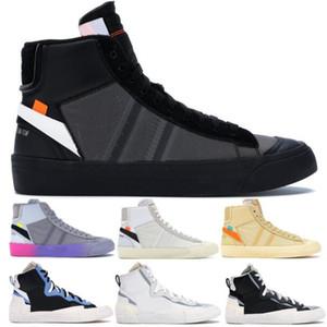 Del diseñador del Mens Blazers medio Zapatos ocasionales de los nuevos 2020 Off Negro Blanco víspera de Todos los Santos de las mujeres zapatillas de deporte Sacai Leyenda de la manera azul de los zapatos corrientes