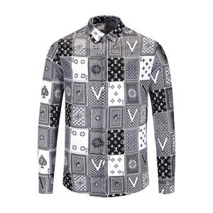 Осень и зима Harajuku Medusa золотая цепочка / шиповник рубашка с принтом модный ретро цветочный свитер мужская рубашка с длинными рукавами рубашки M-2XL