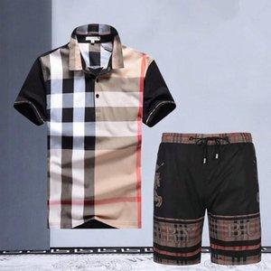 erkek tasarımcı yaz şort pantolon Erkek Koşu Suits Kısa Kollu T gömlek + Şort Yaz Günlük Moda Spor Takımları 2adet boyutu ayarlar