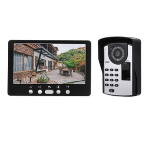 Fingerprint Password Remote Control HD Camera Video Doorbell Intercom System 7 Inch IR Monitor