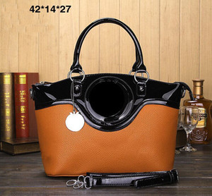 Patente de cuero mujeres de la moda del bolso del diseñador de las señoras compuesto bolsa de embrague bolso de la señora hombro del totalizador del monedero de la cartera femenina alto qulity el envío libre