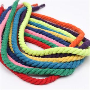 New 12mm 100% Coton 3 Actions Twisted coton Cordons bricolage Craft Décoration Corde Cordon pour sac Drawstring ceinture 15 couleurs