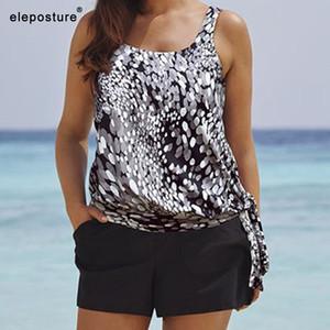 2020 Tankini mayolar Kadınlar Plus Size Mayo Yüksek Waisted Yıkanma Beachwear Vintage Retro Yüzme Suit Maillot De Bain Takımları