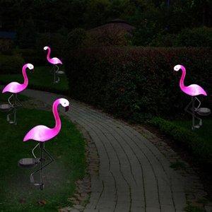 LED Solar Garden Light Simulado Flamingo Lawn Lamp Impermeable Solar Led Luces al aire libre para decoración de jardín Iluminación