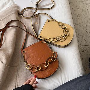Designer-Vintage-Alligator Sattel Frauen Schultertasche Designer Acryl Griff Handtaschen Luxus PU-Leder-Umhängetasche Bag Lady Große Geldbeutel