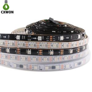 DC12V WS2811 Programmable Pixel LED 5050 60 LEDs M IP20 IP67 Black PCB Addressable RGB LED Strip