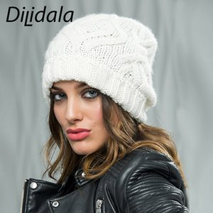 Dilidala Ladies Fashion Diamond-shaped Square Soft Woolen knitted Hat Autumn Winter Wool Cap 2019 Winter Hats For Women