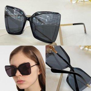 Nuevas gafas de sol de moda 0766 platear encanto de la mariposa de los anteojos sin marco calidad Adumbral estilo encantador 400 gafas resistentes a los UV