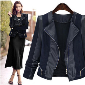 Autumn Winter Women Leather Jacket 2018 New Women PU Leather jacket Long Sleeve Coat Plus Size casaco feminino XL-5XL